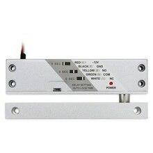 12VDC Porta di Legno Magnetico Bullone di Goccia Superficie di blocco di montaggio Serratura del Cancello Elettrico con Timer