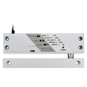 Image 1 - Cerradura magnética de perno de caída para puerta de madera, 12VDC, cerradura para verja eléctrica de montaje en superficie con temporizador
