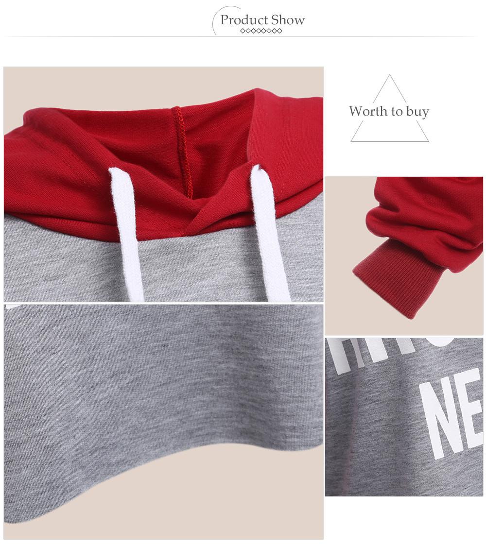 VESTLINDA Hoodies Women Autumn Long Sleeve Hoodie Sweatshirt Women Fashion Letter Print Pullover Femme Casual Hoodied Tops 10