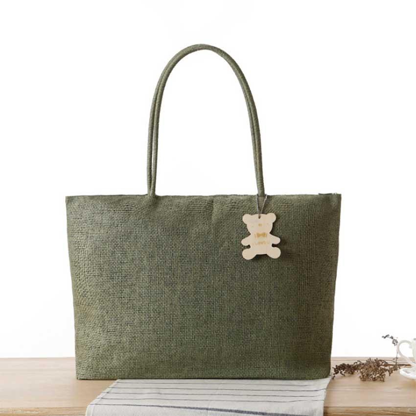 Spring Fashion Simple Straw Bag Women Top-Handle Bags Girls Handbags Tote Shoppi
