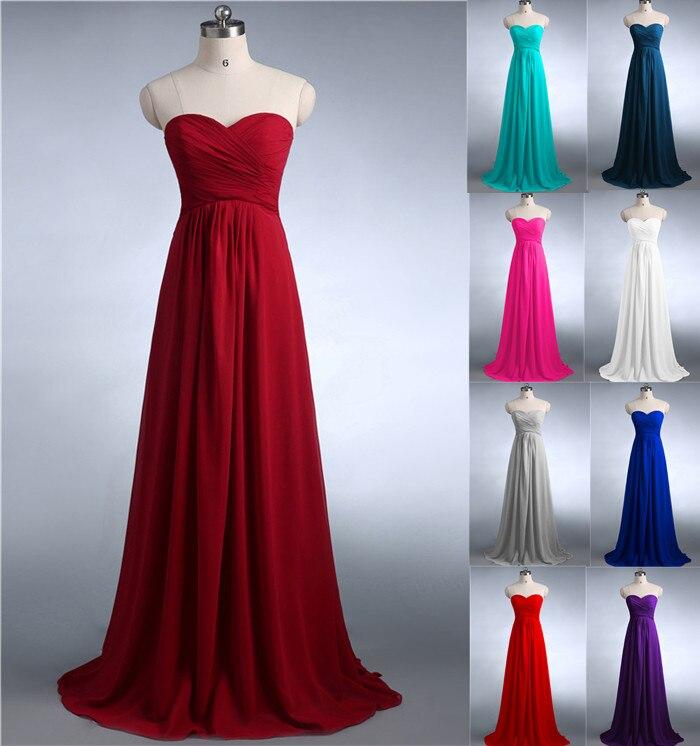 Buy ZJ0039 dusty rose pink light yellow dark teal silver grey strapless bridesmaid dress maxi plus size fashion design