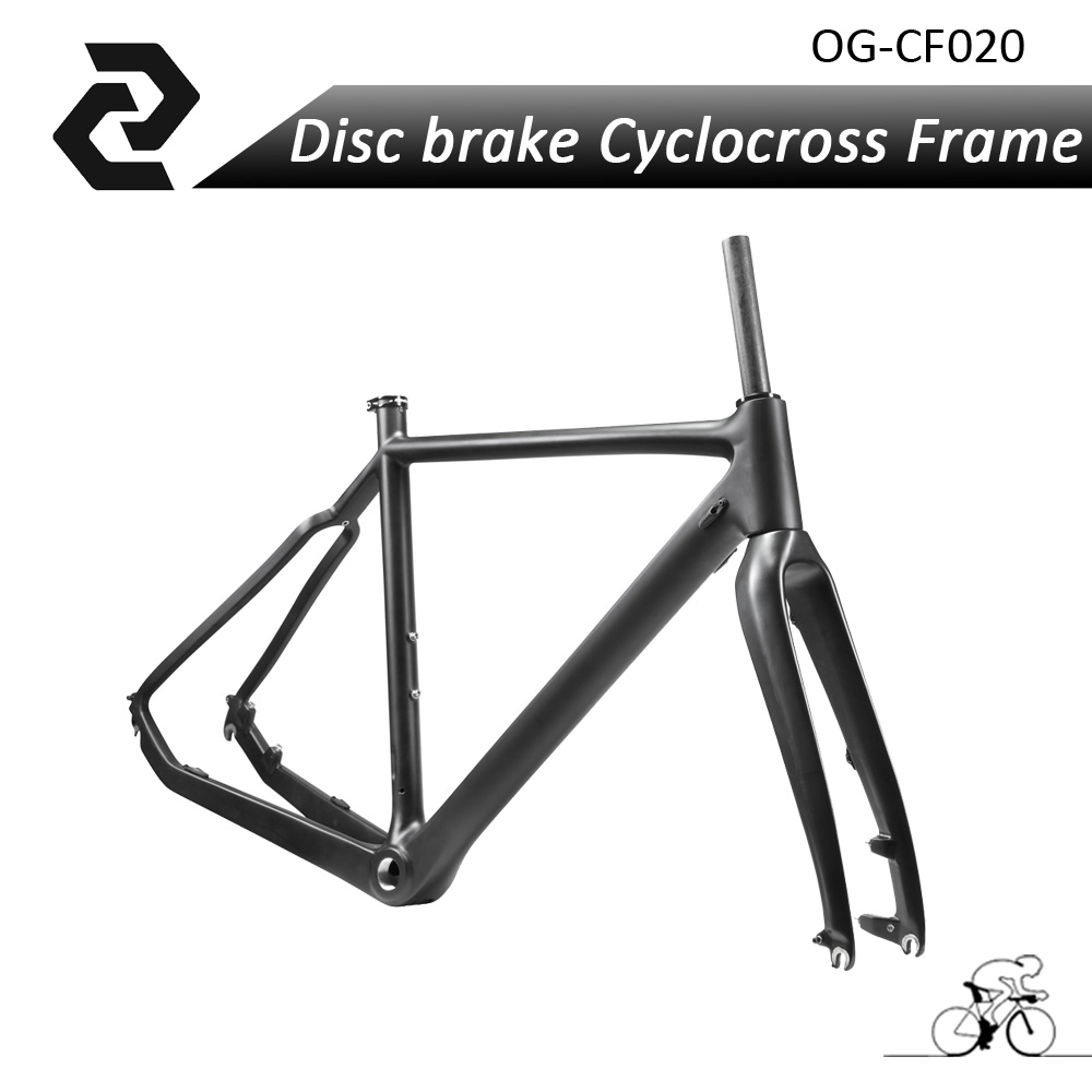 2017 Hot selling Full Carbon Road Bike Frame UD Cyclocross Carbon Frame Disc Brake Fort Headset 51 53 55cm Black BB30 OG-EVKIN hot sale chinese cyclocross frame carbon cx frame di2 disc brake carbon cyclocross bike frame cx535