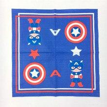 10pcs Food-grade Cartoon Captain America design Napkin Festive & Party Tissue Wedding Supply Decoration