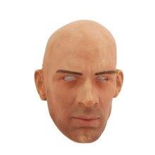 Супер реалистичный! Силиконовый красивый мужчина белый человек голова Маска для костюма партии