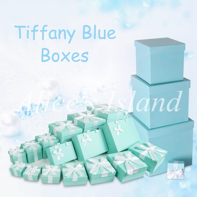 6pcsset Tiffany Blue ideas wedding decoration boxes theme wedding