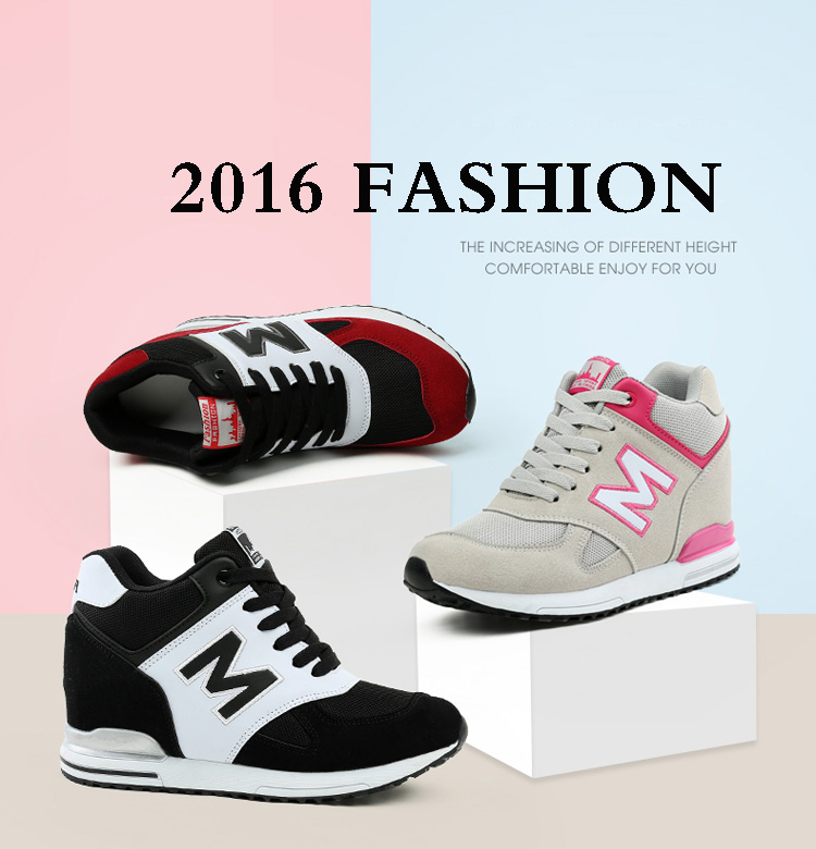 Height Increasing Wedges Shoes Woman Fashion Spring Lace Up High Top Women Casual Shoes Cow Suede Women\'s Vulcanize Shoes ZD36 (1)