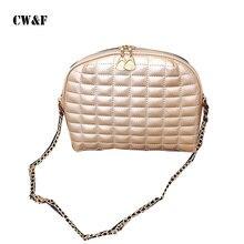 CW F Crossbody shoulder bags 2018 women s summer handbag embroidery shell casual plaid chain small