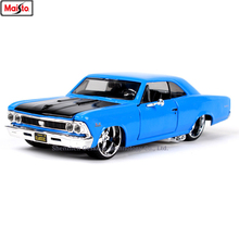 Maisto 1:24 1966 Chevrolet SS simulation alloy car model crafts decoration collection toy tools gift maisto 1 24 2017 chevrolet calvert simulation alloy car model crafts decoration collection toy tools gift
