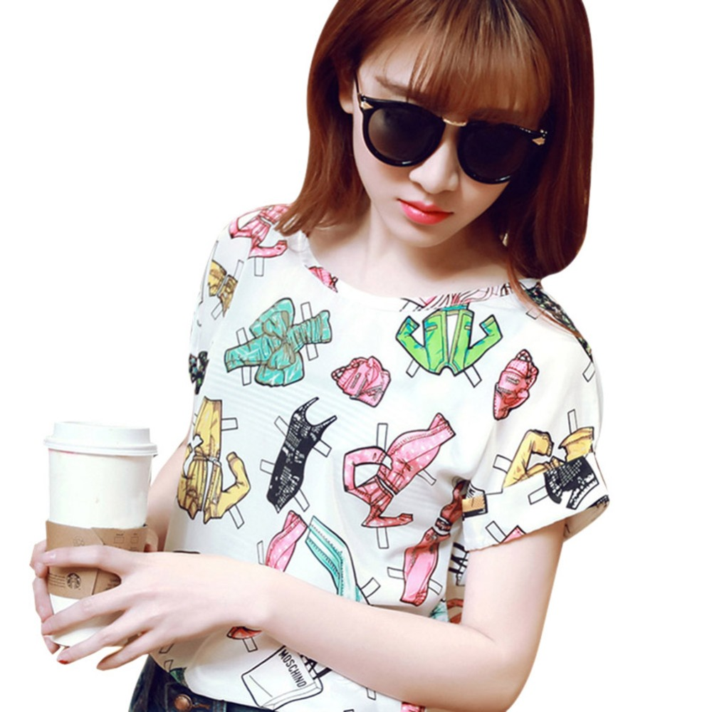 426147f4f2b Women Summer Casual Chiffon Tops Batwing Short Sleeve Loose Shirt Blouse  Hot S1