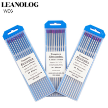 10pcs Purple Head WES Tungsten Electrode 1.0 /1.6/2.0/2.4/3.0/3.2/4.0X175mm TIG Needle/Tungsten Electrode/TIG Rod
