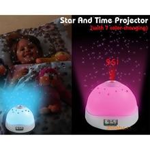 Alarm Clock Despertador Clock Watch Reloj Saat with time projection Colorful Star Projection Clock LCD Clocks Relogio de mesa