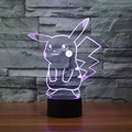 Free Shipping Color changing Flashing Pokemon Go pikachu Arcylic 3D LED Night Light USB 3D LED Pokemon birthday atmosphere Lamps