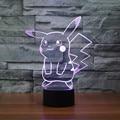 Frete Grátis mudança de Cor Piscando Pokemon Ir Arcylic LED 3D Luz Da Noite USB LED 3D Pokemon pikachu aniversário atmosfera Lâmpadas
