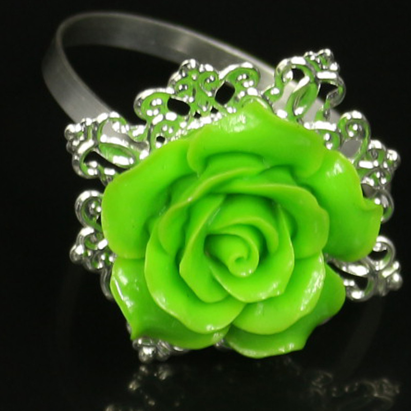11 Brand 10 PCS Entertain Rose Flower Napkin Rings Holders Ring For Holders Weddings Party Tabletop Decorating Tools