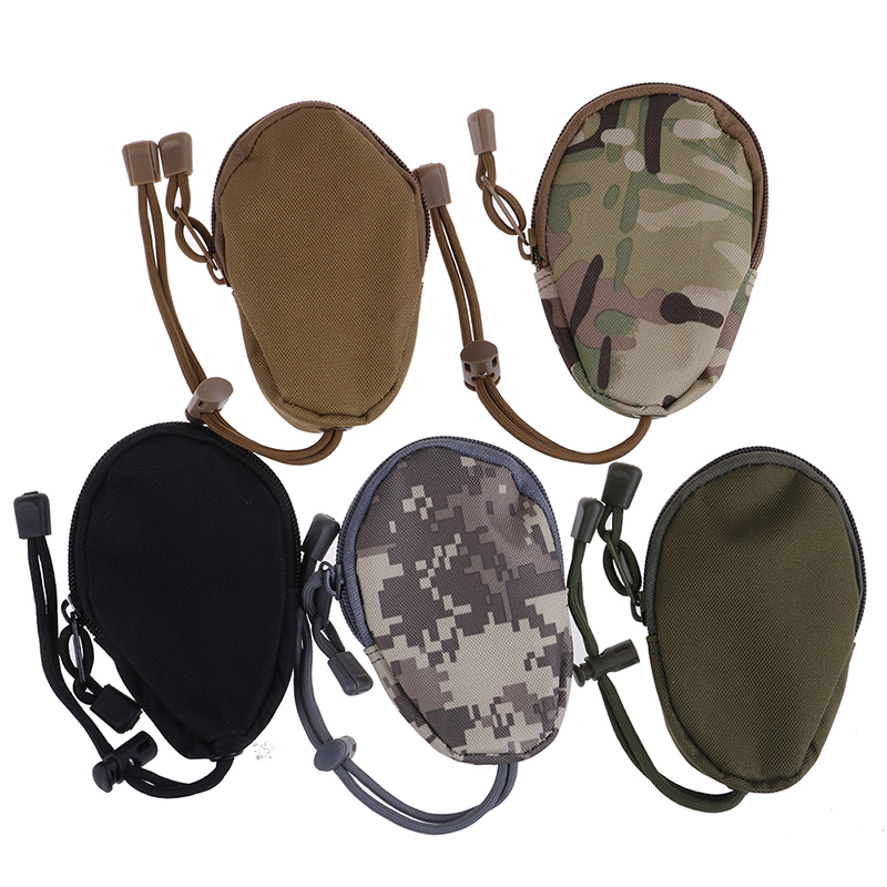 1PCS EDC Mini Key Wallets Holder Men Coin Purses Pouch Military Army Bag Small Pocket Keychain Zipper Case Out Door Pack