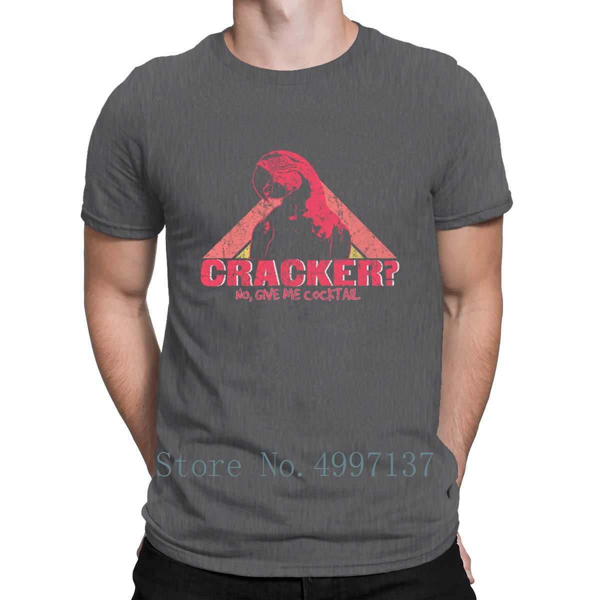 Alcohol Papegaai Unisex Lichtgewicht Badstof T-shirt Grafische Zomer Grappig Cool Euro Maat S-3xl Korte Mouw Custom Kawaii Shirt