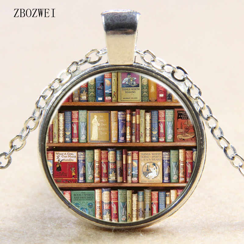2018/Fashion Hot Book Literature Glass Necklace, Clothing Accessories Necklace Pendant Jewelry