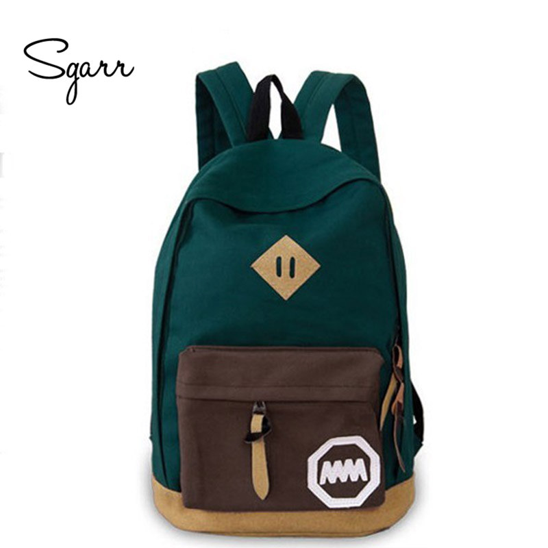SGARR High Quality Canvas Women Backpack School Bags For Teenager Girls Mochila Fashion Female Travel Backpacks Casual Rucksack vintage casual small women printing backpack ladies casual preppy style school bag teenager girls female travel rucksack mochila