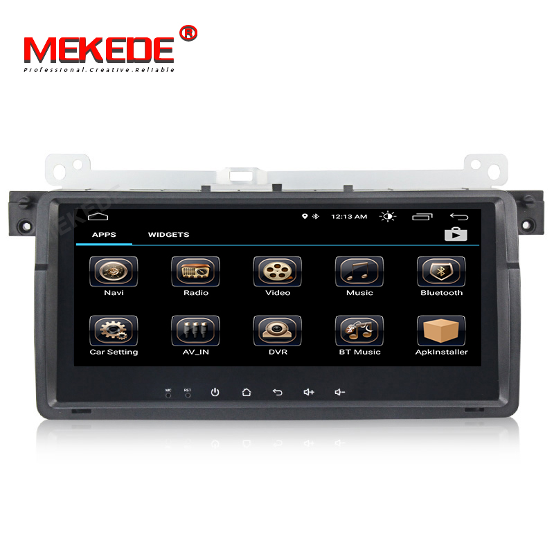 MEKEDE Android 8.1 Quad Core Car Audio Multimedia player for BMW 3series E46 318 320 M3  with WIFI  BT  free shipping