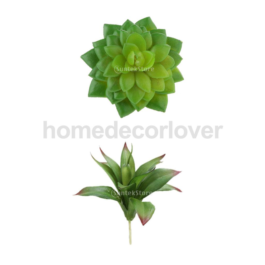 Set of 2 Pieces Artificial Succulent Real Touch Alocasia + Green Decorative Agave Flower Foliage Plant Craft