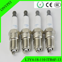 4 x L3Y4-18-110 ITR6F-13 Iridium Spark Plug For Mazda 3 Ford Escape Jaguar X-type ITR6F13 L3Y418110 L3Y4 18 110 ITR6F 13