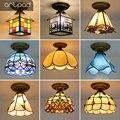 Винтажная Турецкая потолочная лампа в стиле ретро  в средиземноморском стиле  E27  светодиодная разноцветная мозаика ручной работы из стекла...