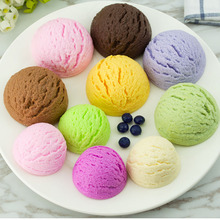 050 Simulated ice cream ball model fake food Hagen Dazs bar counter