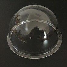 6.2 polegada acrílico interior/exterior cctv substituição clara câmera dome habitação câmera dome capa 5 pces