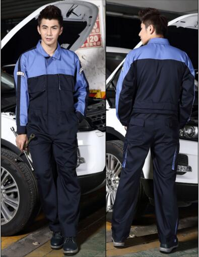 Auto repair work clothes cotton frock welding factory clothing protective clothing, long-sleeve windproof factory work uniform reflective of work clothes long sleeve work wear set male protective clothing work wear
