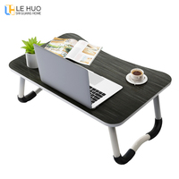 Wooden folding Laptop table office desk Bed computer desk Small book desk Childrens drawing table bedroom fashion Furniture