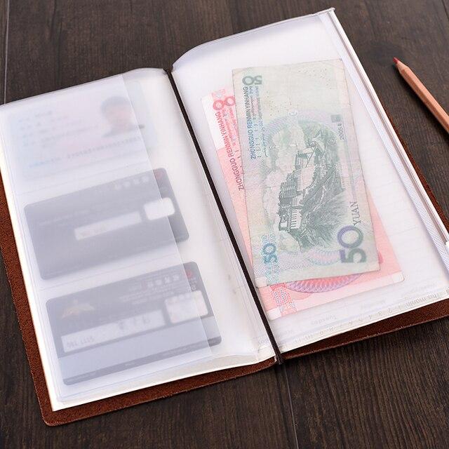 PVC Poche Pour Notebook Traveler Journal Jour Planificateur Zipper Sac De Cartes Visite Notes