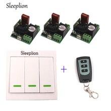Sleeplion 220 В Беспроводной переключатель AC 220 В приемник настенное Панель удаленного передатчик + мини Дистанционное управление Семья огни Лампы для мотоциклов вентилятор на ОТ