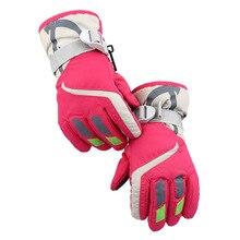 Kids Ski Gloves Winter Waterproof Windproof Fleece Warm Snowboard Gloves Boys Girls Outdoor Hiking Camping Outdoor Skiing Gloves new kids 2in1 windstopper waterproof camping ski snowboard coat outdoor climbing hiking jacket girls