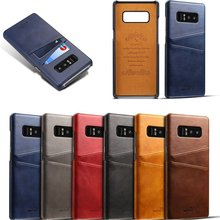 New fashion leather phone case for iPhone 6 6s 7 8 plus X XR XS Max back cover wallet card Samsung Galaxy S9 S8 Plus case Note 8 цены