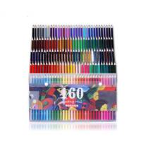 120 160 Colors Wood Colored Pencils Set Unique Lapis De Cor Artist Painting Oil Pencil For
