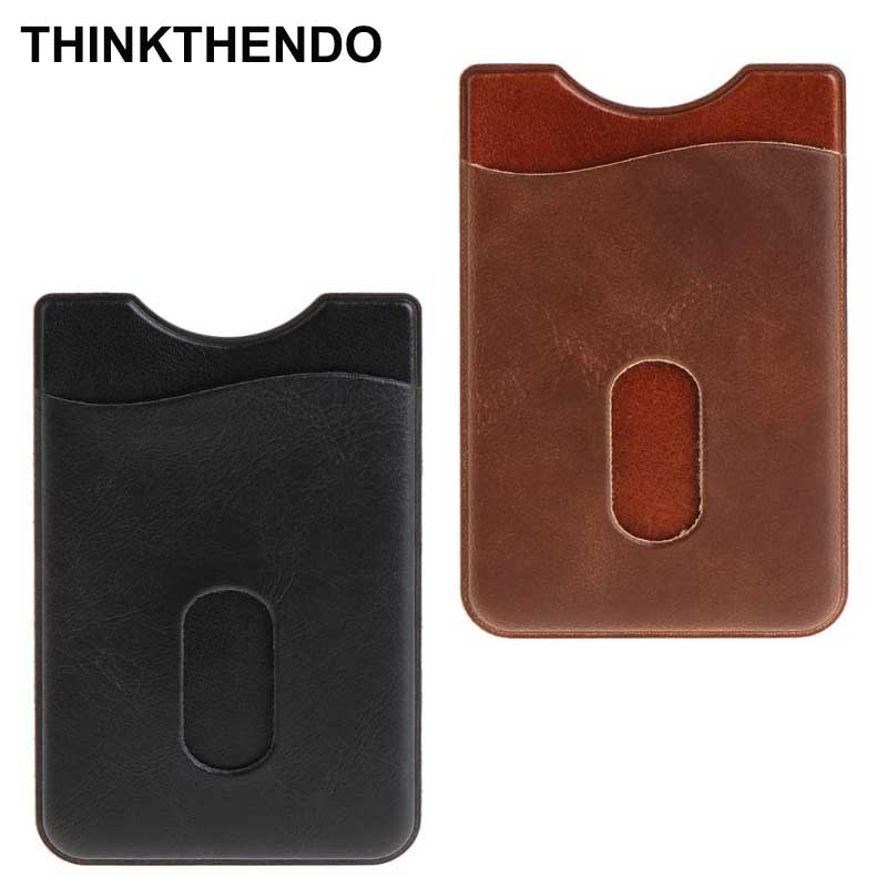 Leather Card Holder Sticker 3M Adhesives Credit ID Card Mobile Phone Back Pocket Wallet Case Stickers Bag PouchLeather Card Holder Sticker 3M Adhesives Credit ID Card Mobile Phone Back Pocket Wallet Case Stickers Bag Pouch