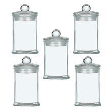 5 шт бытовые герметичные контейнеры для орехов, баночки для сахара, контейнеры для хранения продуктов со стеклянной крышкой для офиса и кухни