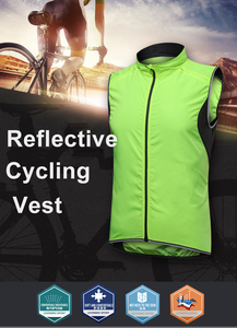 Image 2 - 2019 New Mens Cycling Vest Breathable Reflective Windbreaker Sleeveless Cycling Windproof Jersey Ropa Ciclismo Windstopper