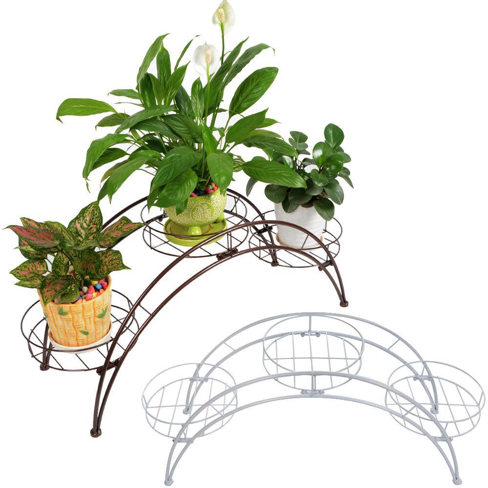 Metal Flower Rack 3 Plant Stand Garden Decorative Planter Holder Flower Pot  Shelf Rack Home Decorations
