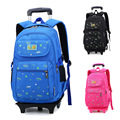 2015 New Trolley School Bag Wheels Shoulder Backpack for Primary & Secondary Students Boys Girls Kids Schoolbag Bagpack Bolsos