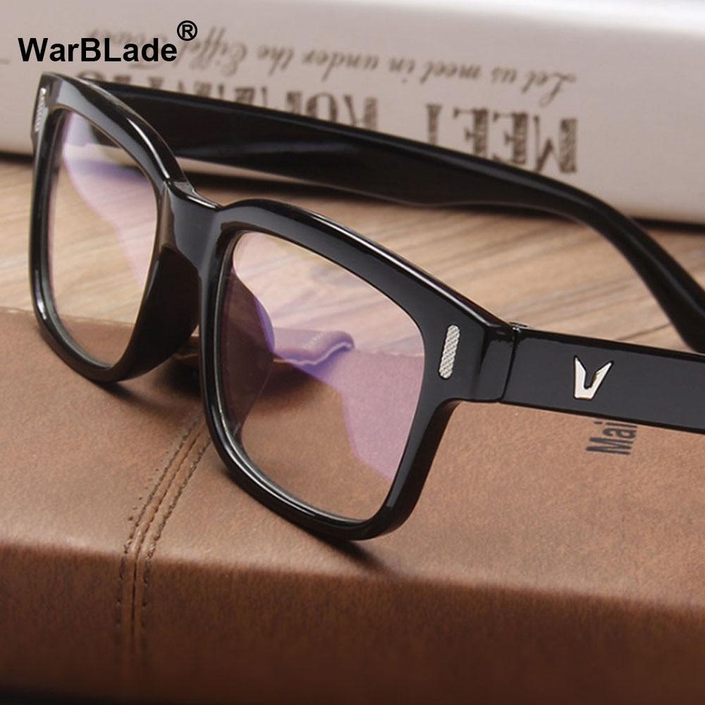 70c6996656f26 2018 Design Da Marca Do Vintage Óculos Feminino Masculino Óptico Lente  Clara Óculos Mulheres Homens Óculos Quadros espetáculo WarBLade