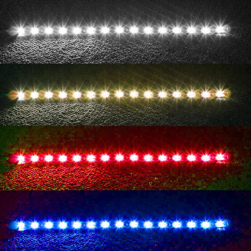 4PCS 30cm 15 LED Car Trucks Grill Flexible Waterproof Light Strips 4 Colors Universal Car Led Light Accessories Drop Shipping @5