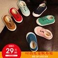 Sapatas de Lona da criança 2016 Do Bebê Do Algodão-Made Sapatos Crianças Sapatos Sapatos de Bebê Da Menina do Menino Sapatos Casuais Baixo Luz Sólida caçoa as Sapatilhas