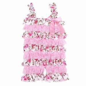 Комбинезоны для маленьких девочек, розовый цветочный кружевной комбинезон Petti с оборками, костюм для 1 го дня рождения с изображением торта, комбинезон для малышей, Тутин, новорожденный|infant jumpsuit|baby girl romperlace romper | АлиЭкспресс