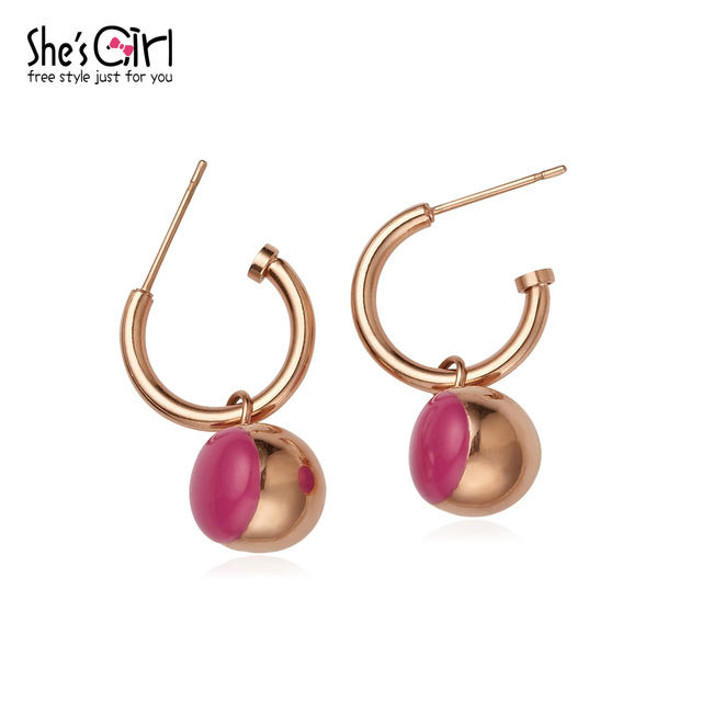 girlfriend gift famous brand 3 colors fun candy drops simple Bohemia classic fairy cute fresh party gold earrings Women jewelry