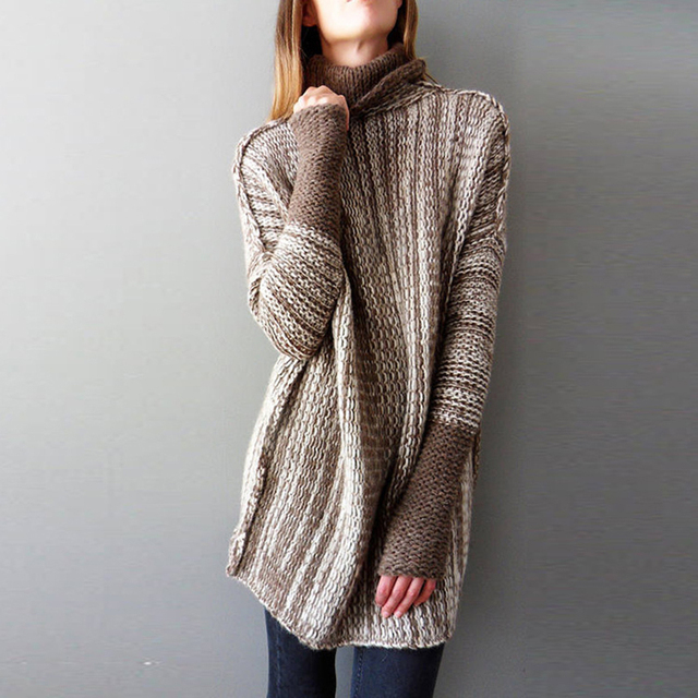 30fc8f675828c New Loose Sweaters Women 2018 Winter Clothes Woman Plus Size Long sleeve  Tops Quality wool sweater Fashion Knitted Turtleneck