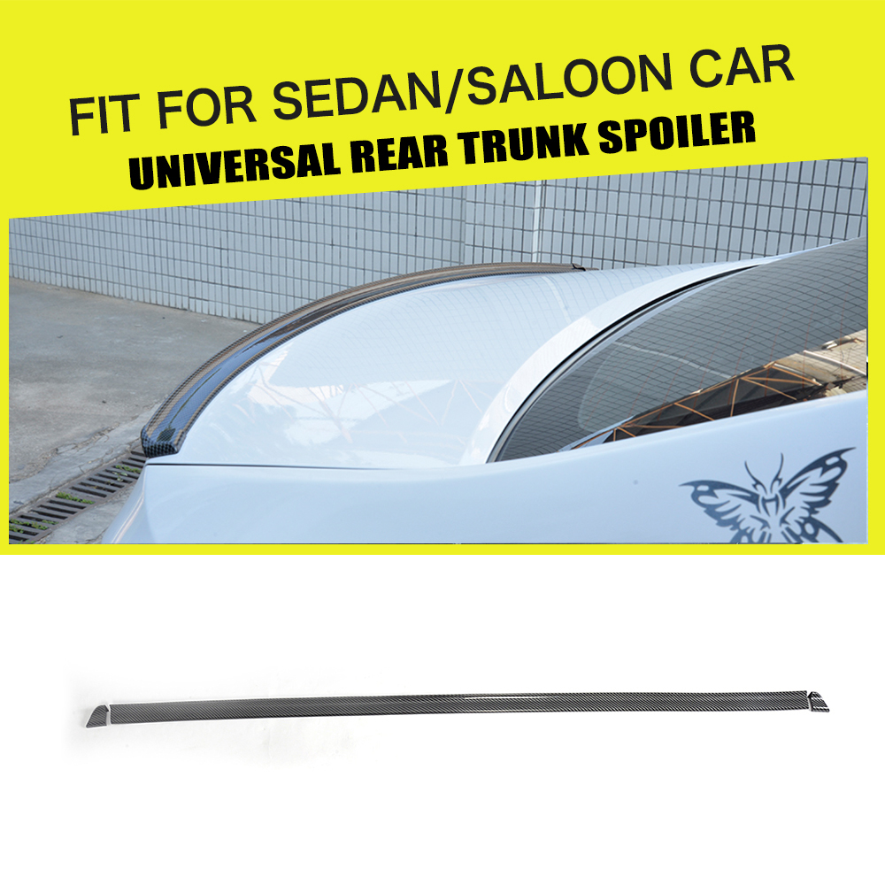 1.5M Carbon Look Universal Soft Car Spoiler Exterior Rear Spoiler Kit Fits For Audi A3 A4 A5 A6 Fit Any Sedan Cars Any Year велорама look 920 carbon kit
