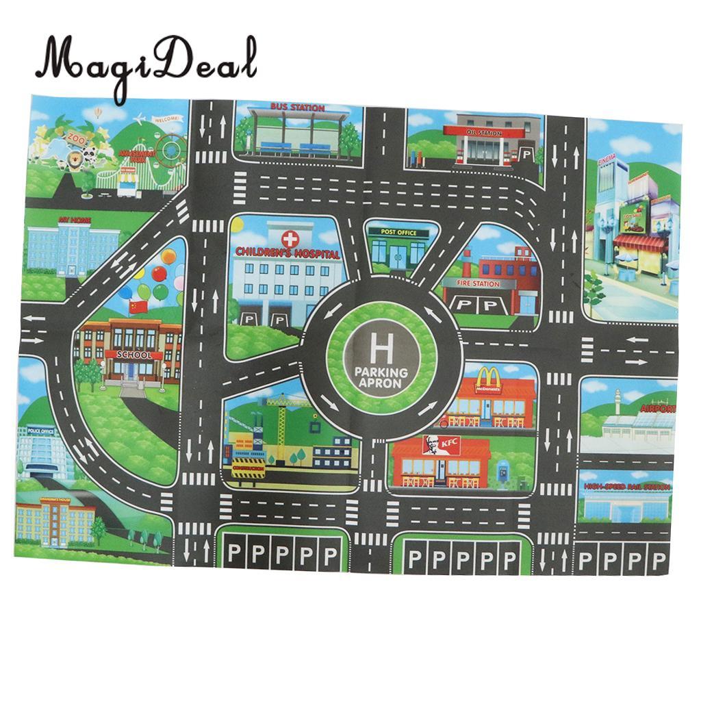 HTB1CNH.XJzvK1RkSnfoq6zMwVXaL City Traffic Road Carpet Playmat Rug For Cars & Train Game Toys Baby Children Educational Play Mat For Bedroom Play Room Game #B