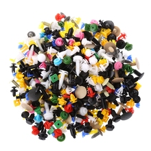 QILEJVS 500Pcs Car Door Plastic Bumper Rivets Panel Push Pin Retainer Trim Clip Fastener стоимость