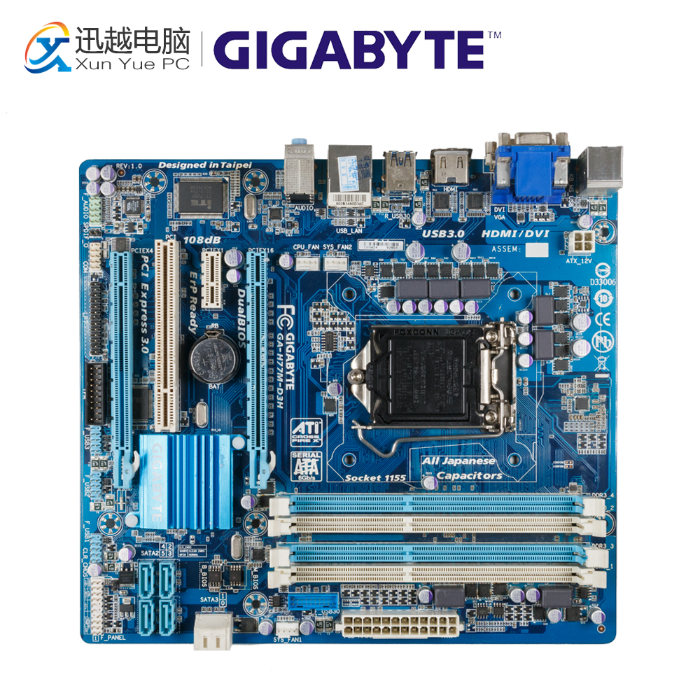 Gigabyte GA-H77M-D3H Desktop Motherboard H77M-D3H H77 LGA 1155 i3 i5 i7 DDR3 32G SATA3 Micro-ATX hot sale 7pcs set of 12mm cnc lathe turning tool holder boring bar with dcmt tcmt ccmt cutting insert with wrench